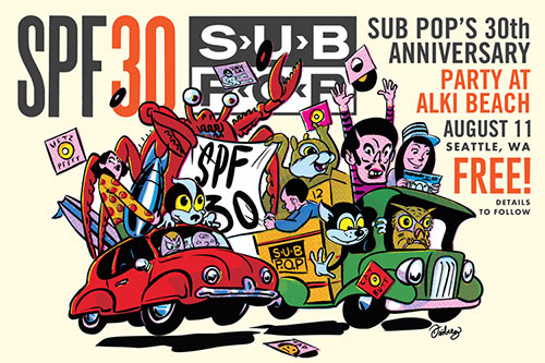 Sub Pop throw free party to celebrate 30th anniversary